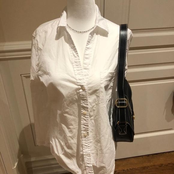 Gap white button down shirt
